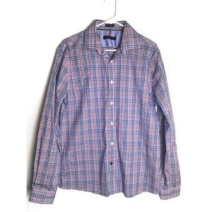 Tommy Hilfiger • Blue and Red Plaid Button Down